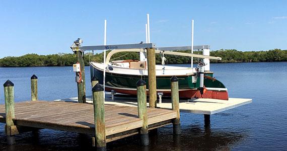 A new boat lift