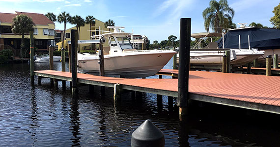 A new dock with a new boat lift